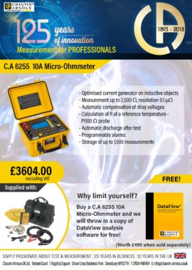 C.A 6255 Micro-Ohmmeter bundle