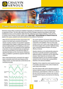 Power Quality Issues: Harmonics