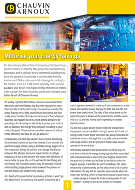 Motorise your energy savings