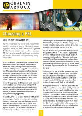 Choosing a PEL