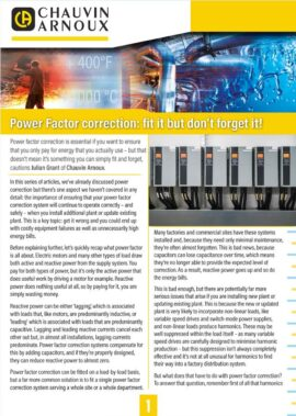 Power factor correction: fit it but don't forget it!