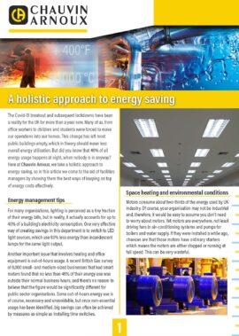 A holistic approach to energy saving