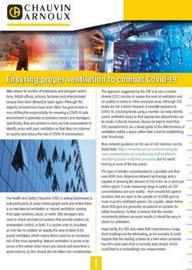Ensuring proper ventilation to combat Covid-19